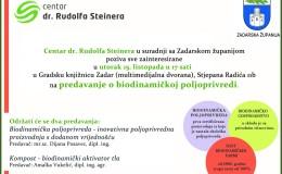 Najava predavanja o biodinamičkoj poljoprivredi